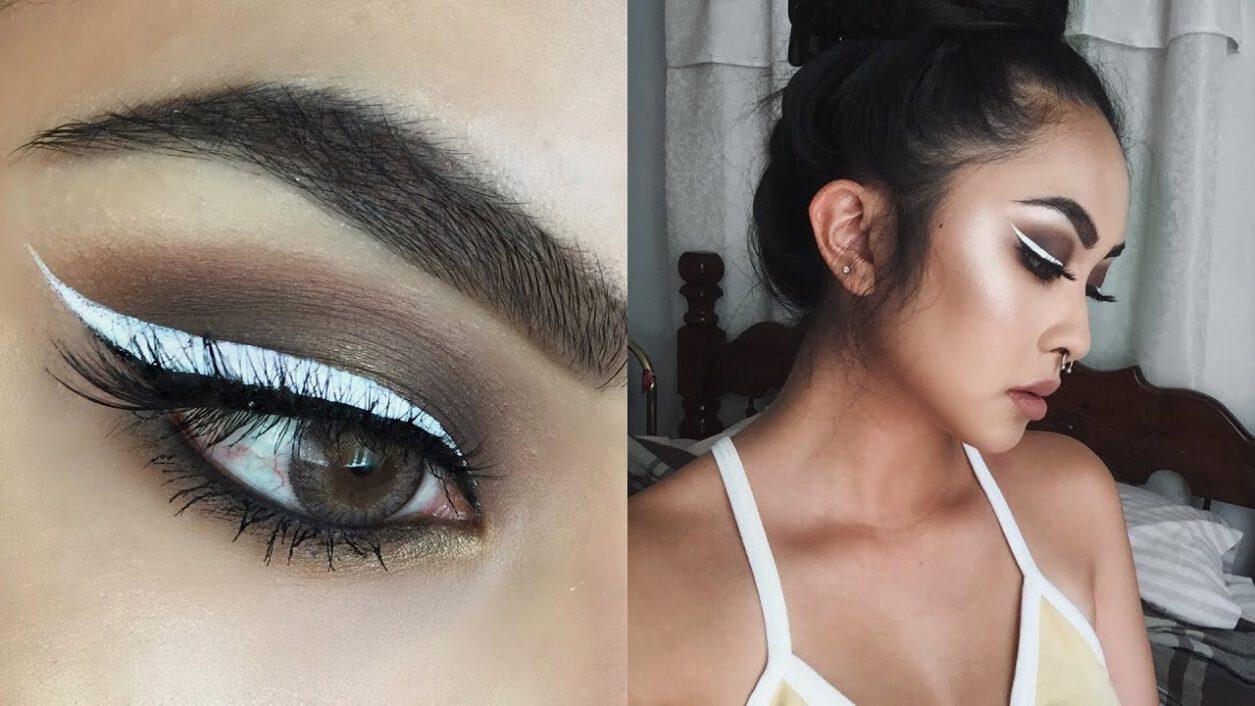 biały eyeliner